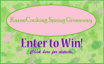 KarenCooking giveaway badge